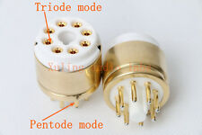 1pc Octal Gold Triode to Pentode for EL34  KT88 6V6 6L6 KT88 5881 6500 KT66 ect