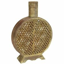 Nearly Natural 0524 Open Weave Decorative Vase- Brown