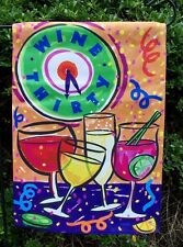 """WINE THIRTY"" Party Celebration Drinks Garden Flag 12.5""x17.5"""