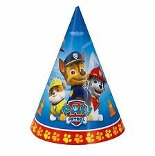 8 Paw Patrol Puppy Pets Happy Birthday Party Paper Cone Hats