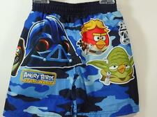 New Boy's Angry Birds Star Wars Blue/ Black CAMO Swim Trunks , Sz 2 Toddler