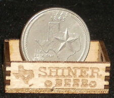 Dollhouse Miniature Shiner Beer or Produce Crate 1:12 / Texas