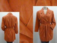 Danwear Sommermantel Trenchcoat Girl Kragen Knöpfe Gürtel Orange Gr 36 Top
