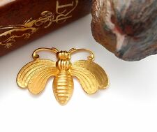 BRASS Art Deco BEE Brass Stampings - Jewelry Ornament Findings (FA-6022)