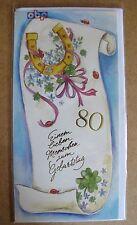 Grußkarte Einen Lieben Menschen Zum Geburtstag  80 Jahre Aufklappbar  C0095