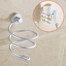 Bathroom Wall Mount Hair Dryer Holder Stand Rack Storage Organizer Straighteners