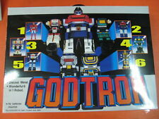 DHL Free Ship-New Godtron Robot Figure Six God Combination 1980 Godmars Die-Cast