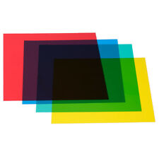 "Neewer 12""x 12"" Color Correction Gels Set 4-Color Gel Filter Film Plastic"