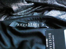 BACKSTAGE SlvStretchStraplessPartyMicroMiniSz8 NWT