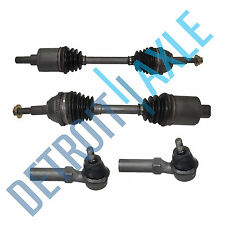 4 pc Kit - 2 Front Driver and Passenger Side CV Axle Shaft +2 New Outer Tie Rods