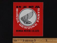 HONDA GENUINE PARTS Original STICKER Vintage Motocross Superbike Motorcycle