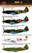 Hungarian Aero Decals 1/72 MIKOYAN MiG-3 Russian WWII Fighter