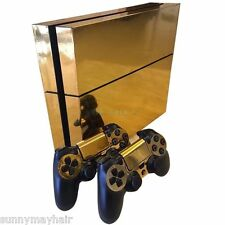 Gold Glossy Skin Sticker For PS4 Playstation4 Console+Controller PVC Vinyl Cover