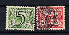 Niederlande Briefmarken 1940 Freimarken mit Aufdruck Mi.Nr.358+59