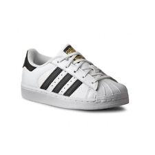 Adidas Originals Superstar Junior Bianco/nero in Pelle Formatori Scarpe 34 EU