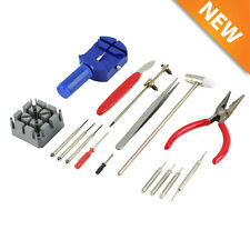 16pcs Watch Repair Tool Kit Band Pin Strap Link Remover Back Opener Remover NEW