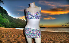 NWT GOTTEX PROFILE SPRING DAISY floral BIKINI BATHING SUIT Mini SKIRT SZ- 8