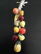 MEXICAN RISTRA FRUIT ROPE WALL HANGING CERAMIC KITCHEN DECOR SMALL