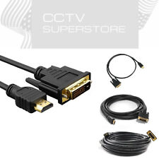 6Ft HDMI to DVI-D 24+1 Pin Monitor Display Adapter Cable Male Gold HD HDTV