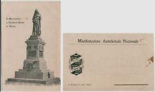 # ROMA: MONUMENTO A GIORDANO BRUNO- MANIFESTAZIONE ANTICLERICALE NAZIONALE