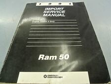 1991 Dodge Ram 50 Engine Chassis Body Dealer OEM Service Manual FREE Shipping