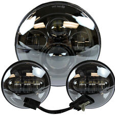 """7"""" Motorcycle LED Projector Daymaker Headlight Passing Lights For Harley Touring"""