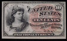 1863 4th Issue 10 Cent Fractional Currency Paper Note Unc
