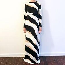 NWT $5000 GUCCI Runway Rachel Zoe Zebra Silk Sleeve Gown Rare, Sz 40/6