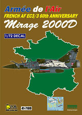 DXM decal 1/72 French AF EC3/3 Mirage 2000D 60th Anniversary