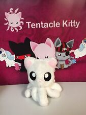"""Tentacle Kitty Little Ones White 4"""" Stuffed Plush New Cat Octopus"""