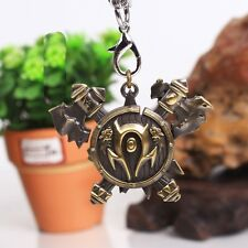 "WOW World of Warcraft Orcs Horde Symbol Ax Pendant Necklace Free 24"" Chain"