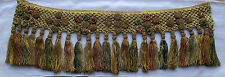 Rare Find Antique Italian Tassel Trim Metallic Tops Silk Thread Accents