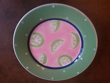 "Essex Collection Citrus By Heather Outlaw 8"" Lime Dessert Plate"