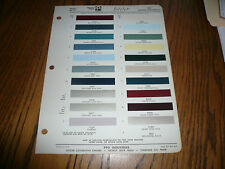 1962 Lincoln Continental Ditzler Color Chip Paint Sample