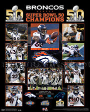 Super Bowl 50- Denver Broncos Championship Picture Plaque