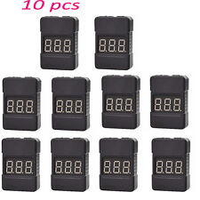 10pcs BX100 1-8S Lipo Battery Voltage Tester Low Voltage Buzzer Alarm Dual Speak