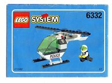 LEGO  6332- Command Post Central r NOTICE/ INSTRUCTIONS BOOKLET / BAUANLEITUNG
