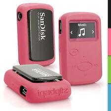 Pink Silikon Tasche Hülle für Sandisk Sansa Clip Jam MP3 2015 Gel Schutz Case