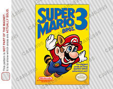 NES - Super Mario Bros 3 Nintendo Box Art Car/Refrigerator Magnet