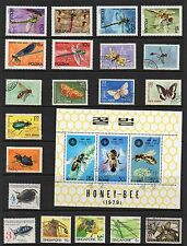 INSECTS Thematic STAMP Collection MINT USED REF: TS69