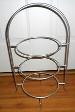 3 Tier Plate Cupcake/Pie Stand Wrought Iron Metal Rack Buffet Display SILVER 20""