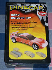 NIP Pinecar P4036 Body Builder Kit 5 Balsa Wood Pieces Formula Glue Instructions