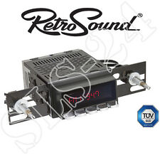 "RETROSOUND Autoradio ""Model 2"" schwarzes Display mit Chrom Drucktasten Bluetooth"