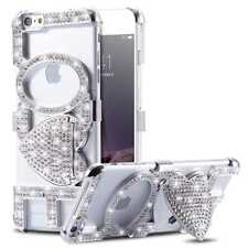 Luxury Crystal Bling Diamond LOVE Kickstand Hard Holder Case Cover For iPhone