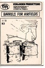 VERLINDEN 83 - BARRELS FOR AIRFIELDS - 1/72 RESIN KIT