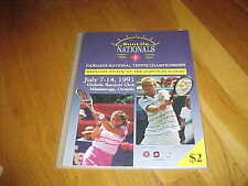 1991 Sunlife Nationals Tennis Championship Tennis Program Brian Gyetko Cover