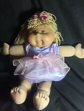 2005 PLAY ALONG CABBAGE PATCH KIDS CPK BLONDE HAIR  BABY DOLL W/ DRESS
