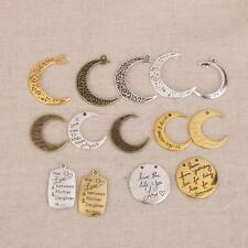 14pcs Filigree CRESCENT MOON CHARMS Connector Pendants DIY Jewellery Making