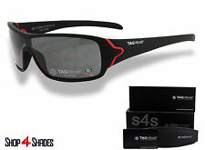TAG Heuer Racer Sunglasses MATTE BLACK_RED_POLARISED GREY 9206 131 66