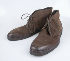 NIB. TOM FORD Brown Suede Leather Lace Up Chukka Boots Shoes Size 10.5 $995